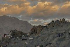 Colurful Sunset at Dhankar,Spiti valley,Himachal Pradesh,India