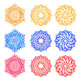 Colurfull snowflakes collection Stock Image