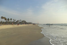 Colva beach, Goa, India. Colva is a famous beach in Southern Goa Royalty Free Stock Image