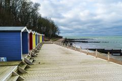 Colwell bay beach huts Royalty Free Stock Photography