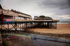 Colwyn Bay derelict Pier Royalty Free Stock Photo