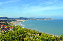 Colwyn Bay in North Wales. A view of Colwyn Bay in North Wales Stock Image