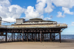 Colwyn Bay Pier, North Wales. An image of a dilapidated pier at Colwyn Bay north Wales before the area was up for redevelopment Royalty Free Stock Photography