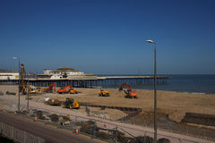 Colwyn bay sea defence Royalty Free Stock Photo