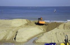 Colwyn zatoki plaża Fotografia Royalty Free