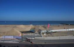 Colwyn zatoki plaża Zdjęcia Stock
