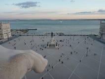 Comércio广场在里斯本 免版税库存图片