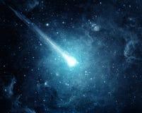 Comète dans le ciel étoilé Éléments de cette image meublés par la NASA photographie stock libre de droits