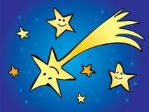 Comète dans le ciel d'étoile Photo libre de droits