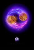 Comète de basket-ball Image libre de droits