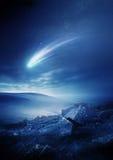 Comète de ciel nocturne illustration de vecteur