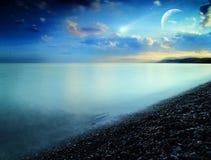 Comète. Horizontal normal abstrait Photo libre de droits