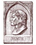 Comédie divine de Dante Alighieri Élément pour l'architecture, la conception sur le bâtiment pour le tatouage ou la conception de Photographie stock libre de droits
