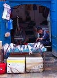 Comércio da rua dos peixes Fotografia de Stock Royalty Free