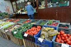 Comércio da rua nos vegetais e no fruto no Polônia Foto de Stock Royalty Free