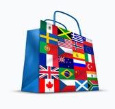 Comércio de mundo ilustração royalty free