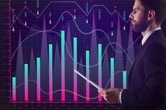 Comércio do corretor e conceito do mercado Imagem de Stock