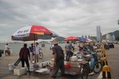 Comércio dos peixes no beira-mar de shenzhen Fotografia de Stock