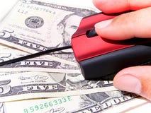 Comércio e investimento no mundo do Internet Fotos de Stock