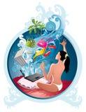 Comércio electrónico ilustração stock