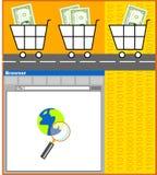Comércio electrónico ilustração royalty free