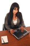 Comércio electrónico da mulher de negócio Fotos de Stock Royalty Free