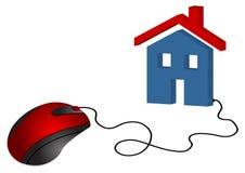 Comércio eletrônico dos bens imobiliários Fotos de Stock