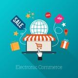 Comércio eletrônico Fotografia de Stock