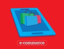 Comércio eletrônico do fundo de Infographics Conceito do negócio Fotografia de Stock