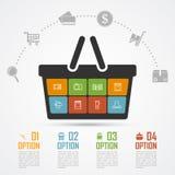 Comércio eletrônico infographic ilustração stock