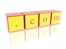 com签字 免版税库存图片