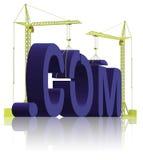 楼在万维网网站之下的com建筑 免版税库存照片