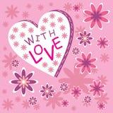 Com amor ilustração stock