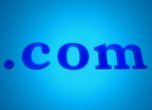 .com blue glowing neon sign royalty free stock images