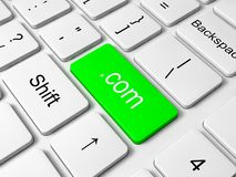 Com button on keyboard Stock Photo
