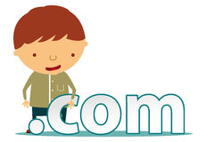 Com character Stock Photo