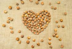 Com coração nuts Imagem de Stock