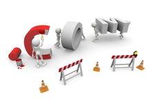 COM in costruzione Immagini Stock Libere da Diritti