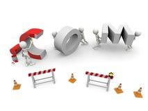 COM in costruzione royalty illustrazione gratis