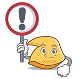Com desenhos animados do caráter da cookie de fortuna do sinal ilustração royalty free