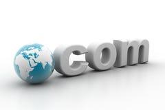COM di puntino del mondo illustrazione di stock