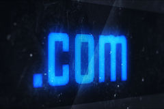 Com domain names Royalty Free Stock Photography