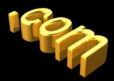 .com dorato Fotografia Stock