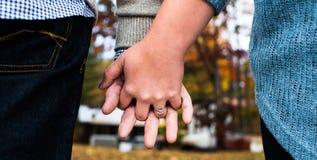 Com estes anéis, nós começamos nossas vidas junto Fotos de Stock Royalty Free