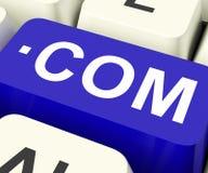 COM fecha o Domain Name da Web dos meios Fotos de Stock Royalty Free