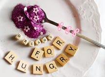 com fome para sonhos Imagem de Stock