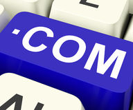 Com Keys Means Web Domain Name Royalty Free Stock Photos