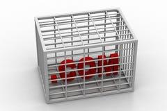 COM manda un sms a nella scatola Immagine Stock Libera da Diritti