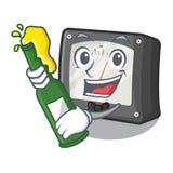 Com medidor da amperagem da cerveja acima da tabela dos desenhos animados ilustração royalty free
