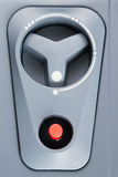 Com o controlador do botão vermelho Foto de Stock